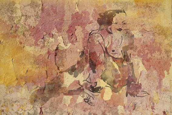 Femme au peignoir 120X80cm