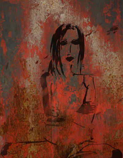 Femme incandescente 60X100cm