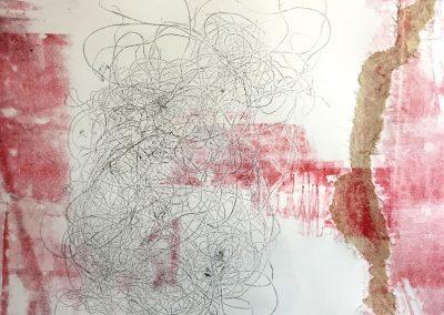 Aurélie Lafourcade monotype gravure oeuvre d'art exposition expo encre