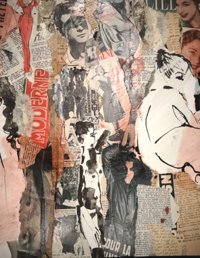 Aurélie Lafourcade, artiste, plasticienne, collage, expos, papiers, dessins, encre de chine, peinture, art,