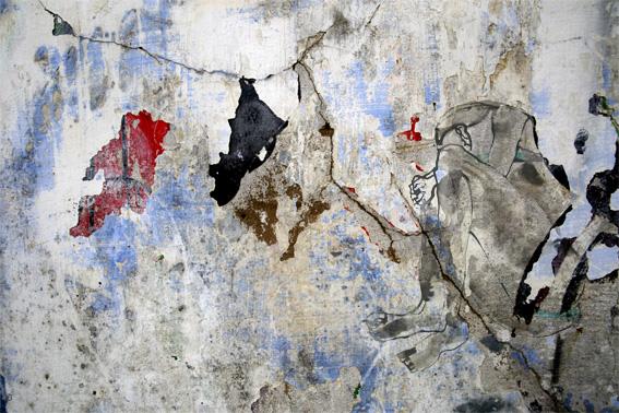 Nu sur mur lézarde 140X85cm VENDU