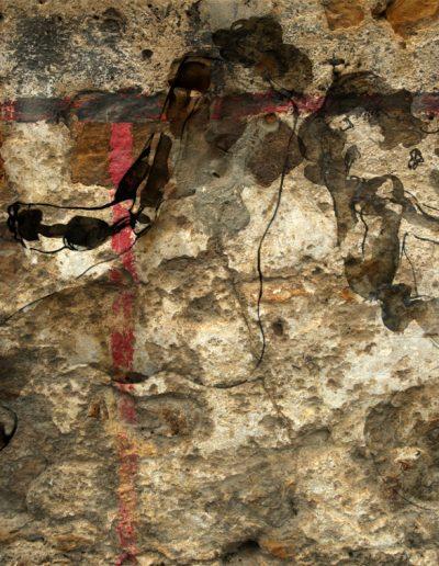 Nus sur mur pierres 130X80cm