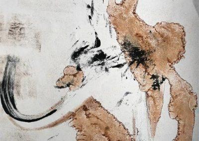 Aurélie Lafourcade oeuvre d'art, artiste, exposition, monotype, encre, dessin, papier japonais